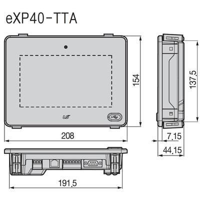 Modernes, kosteneffizientes HMI-Panel 7 Zoll (17.7cm) wide-screen TFT Farb LCD, 3 serielle Schnittst